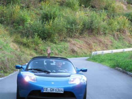 Electric Tesla Roadster